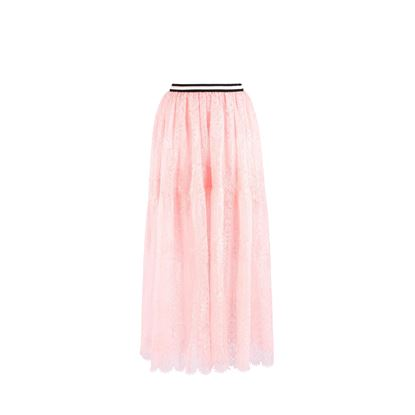 Picture of Ermanno Scervino - Pink lace longuette Skirt