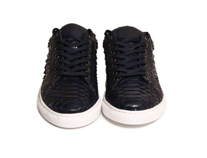 Picture of Aizea - Black python sneakers