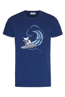 Picture of Van Laack -  Blue T-shirt with surfing dog print